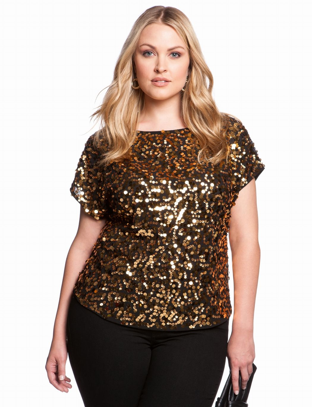All Over Sequin Blouse | Plus Size Tops & Shirts | eloquii ...