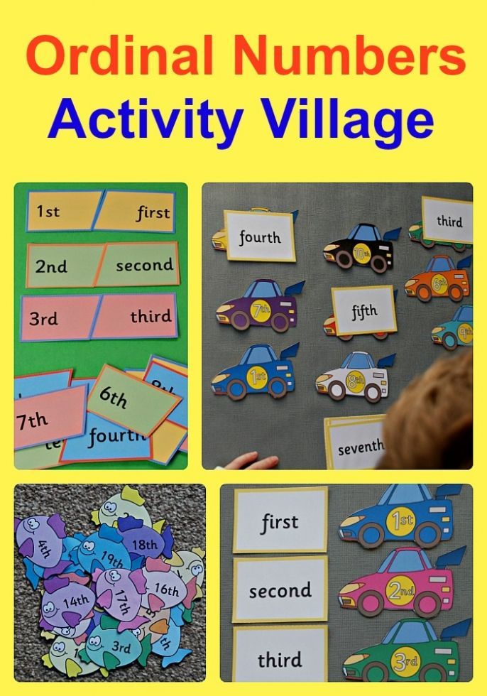 Activity Village Ordinal Number Resources to use at home or in the ...