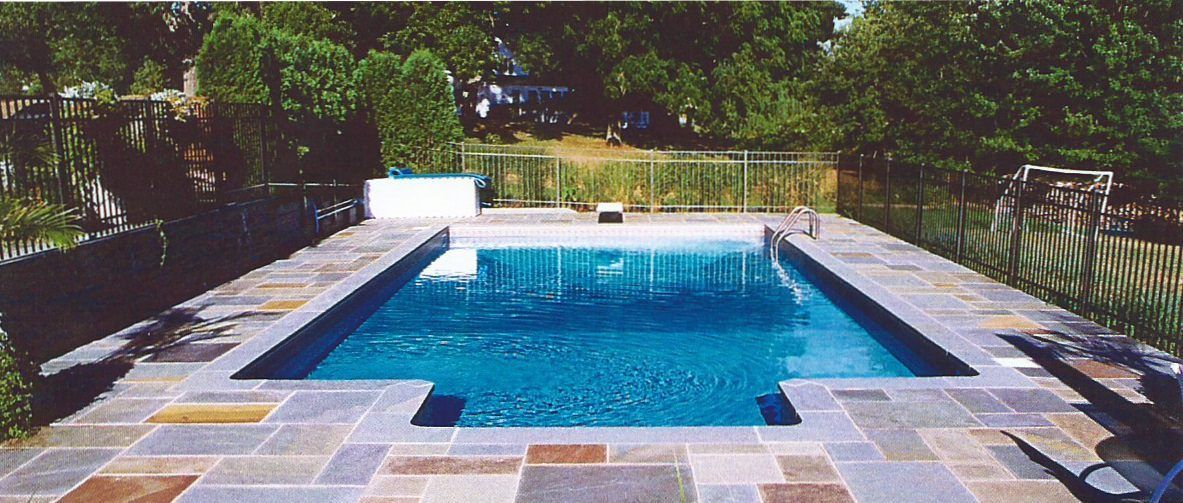 Rectangular pool patio ideas home pinterest for Swimming pool patio designs