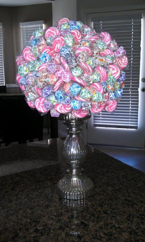 lollipop tree styrofoam ball lollipops candle