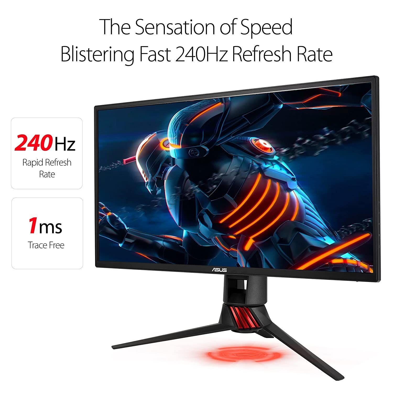 Asus Rog Strix Xg258q 24 5 Gaming Monitor Full Hd 1080p 240hz 1ms Eye Care G Sync Compatible Adapti In 2020 Asus Sync Monitor