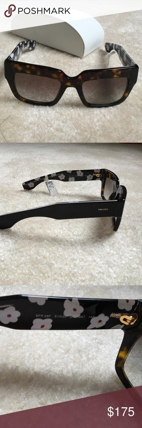 08896e31c5 Prada SPR 28P Sunglasses 2AU-0A7 3N Dark Tortoise Prada SPR 28P Sunglasses  2AU-0A7 3N Dark Tortoise Frame SPR28P. Comes with prada sunglasses case  Prada ...