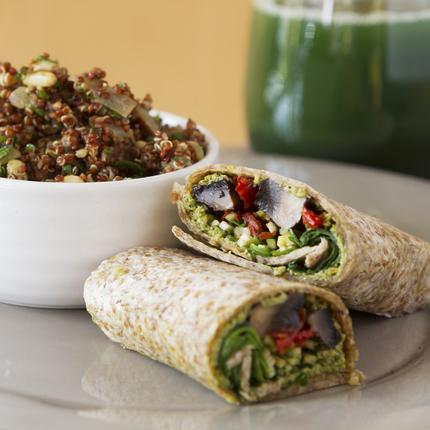 Vegan Cabbage Wraps with Quinoa Salad