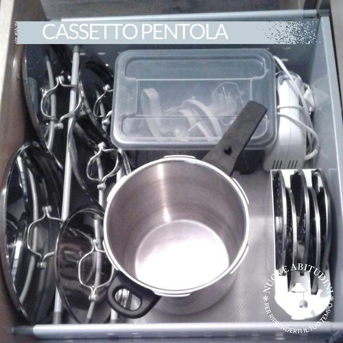 Organizzare Cassetto Cucina Pentole Organizzazione Cucina Nel