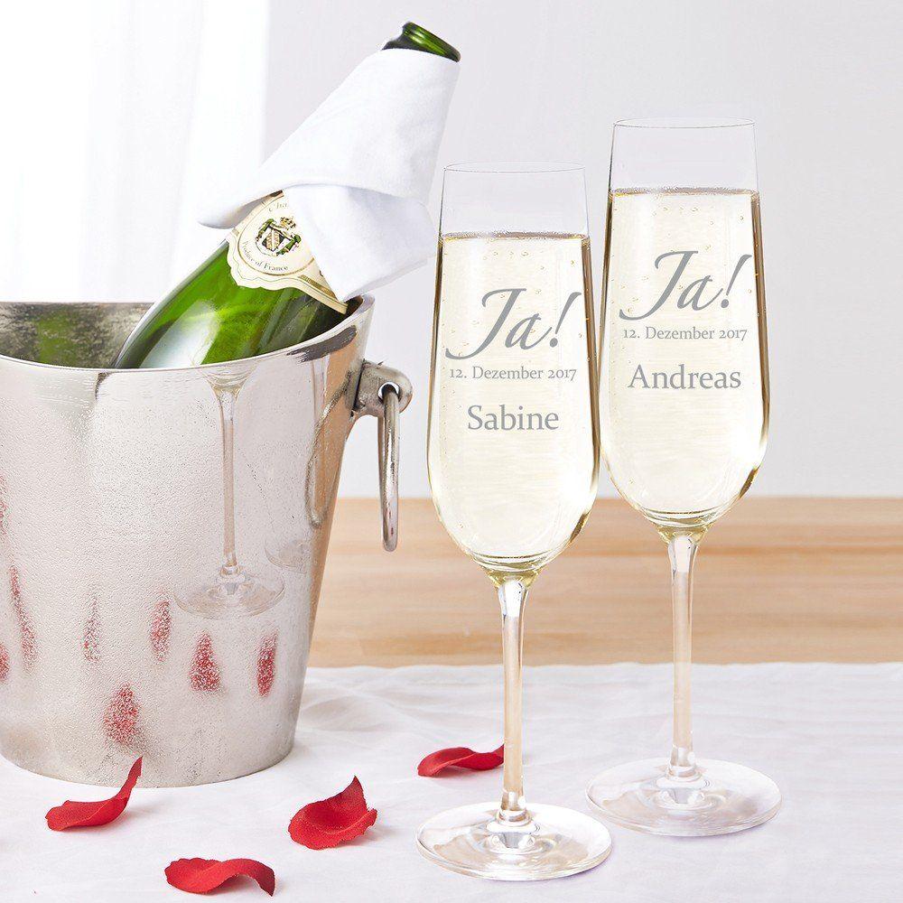 Sekt Gläser Selbst Gestalten Als Hochzeitsgeschenk Unsere