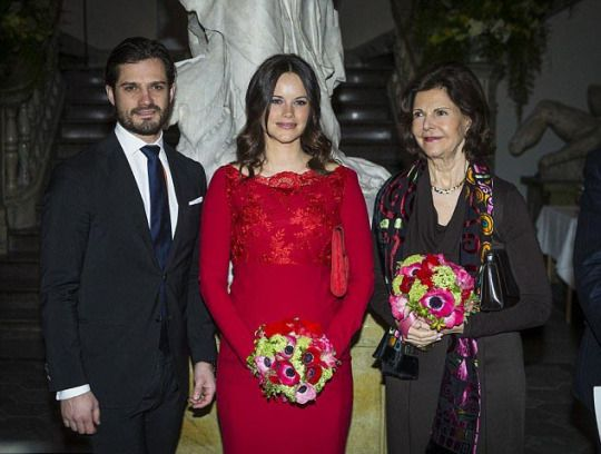 The Royal Watcher - Princess Sofia of Sweden at the Royal Swedish Academy of Fine Arts' formal gathering - 19.02.16