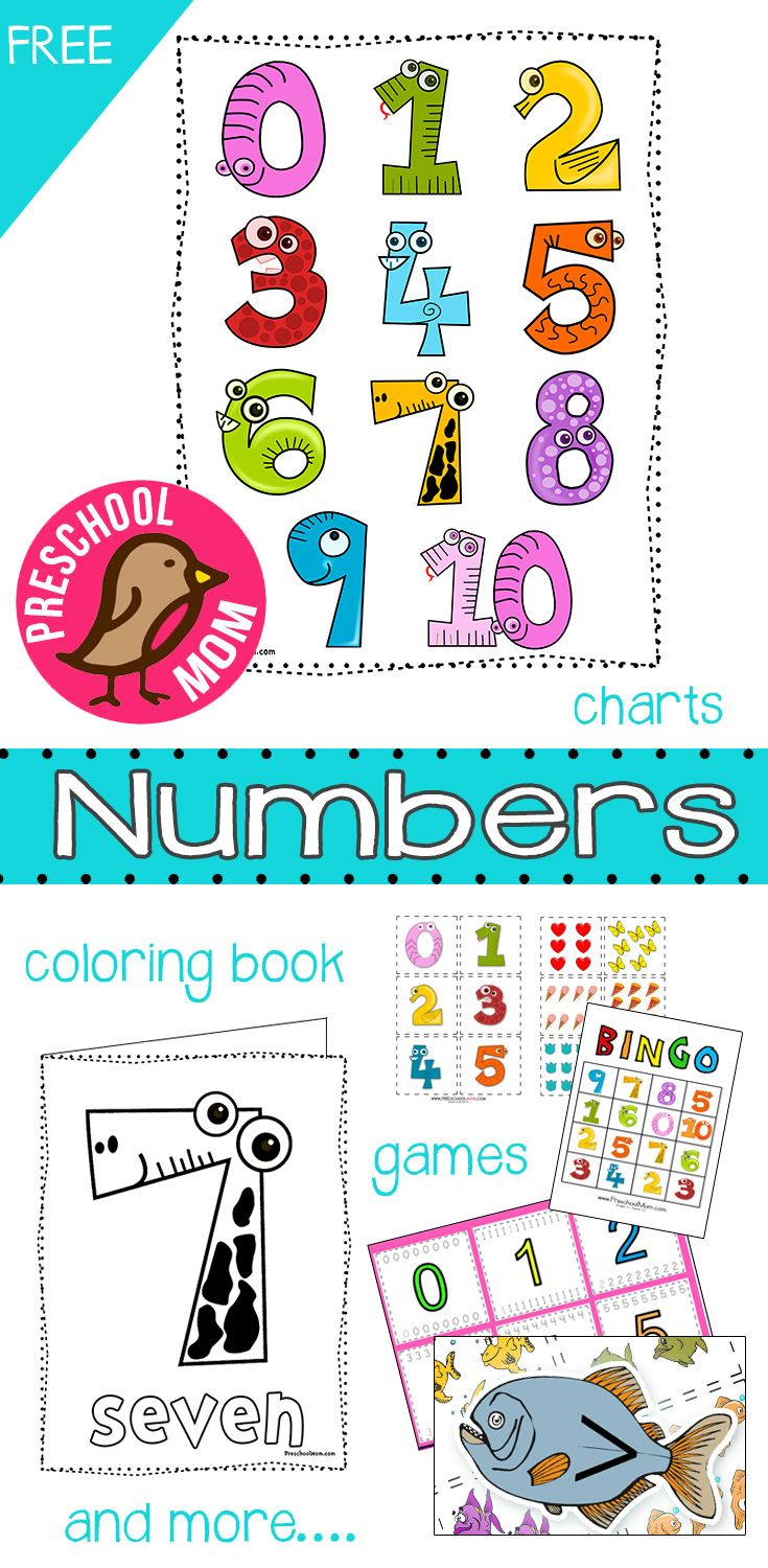 Free Number Preschool Printables. This set includes number charts ...