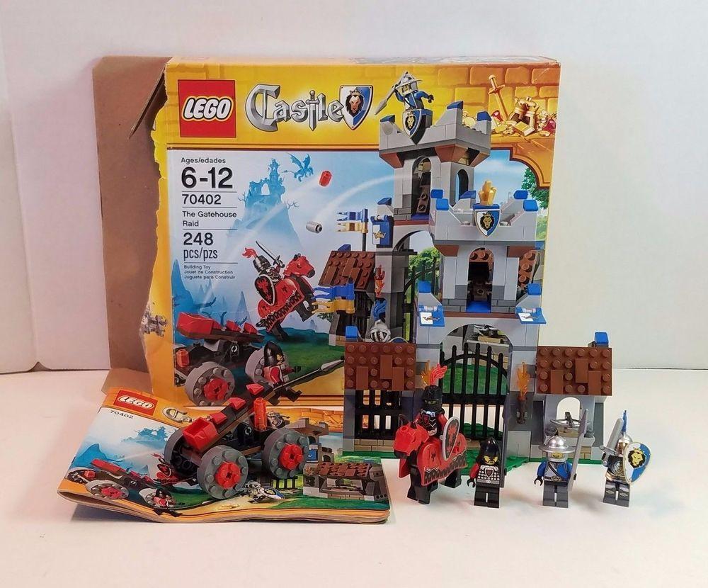 Lego 70402 Castle The Gatehouse Raid Complete Knight Horse Minifigs