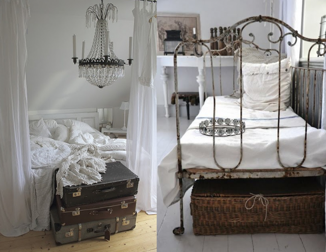 20 inspirations pour une chambre Shabby Chic | Shabby chic bedrooms ...