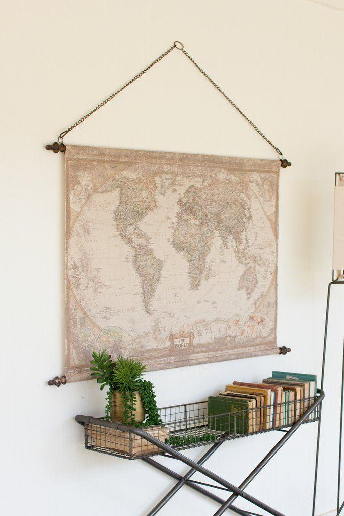 World Map Banner Home Decor