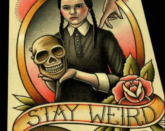 Barb Tattoo Flash by ParlorTattooPrints on Etsy