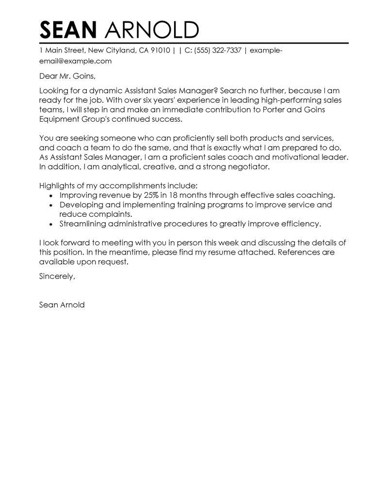 25 Sales Cover Letter Cover Letter Examples For Job Pinterest