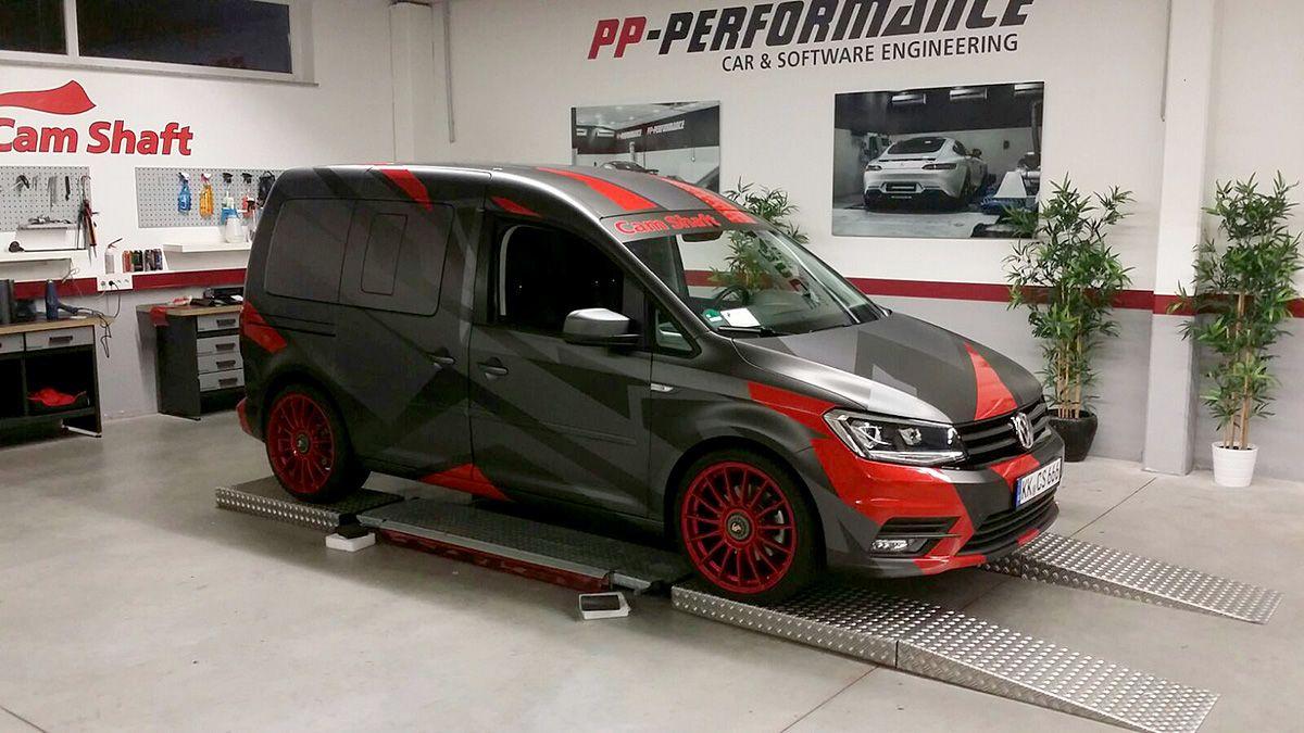 Volkswagen caddy wrapped by cam shaft de design by ttstudio ru