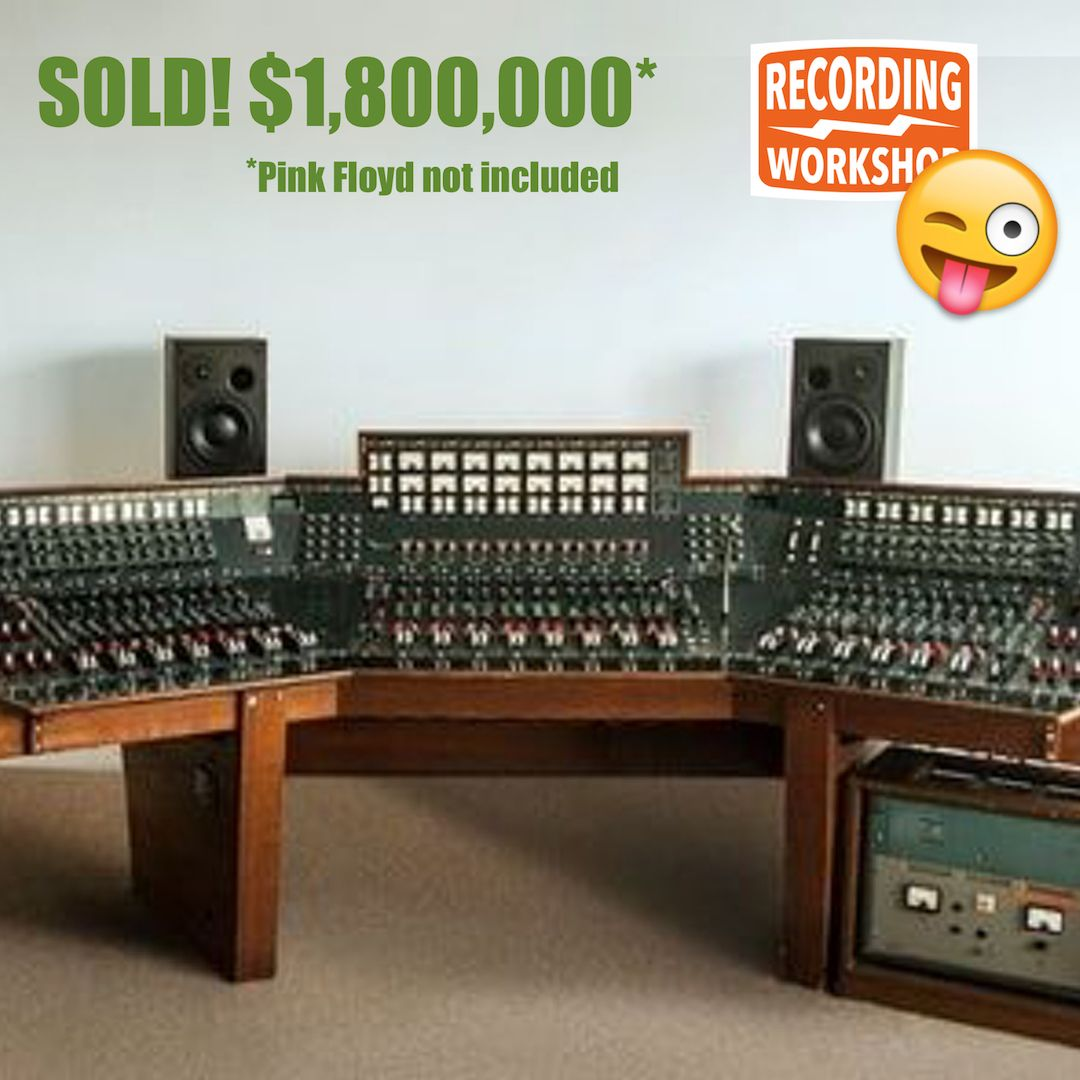 You Missed Your Chance A Mere 1 800 000 Could Have Gotten You This Console Used To Record Pink Floyd S Dark Side Of Th Pink Floyd Dark Side Pink Floyd Floyd