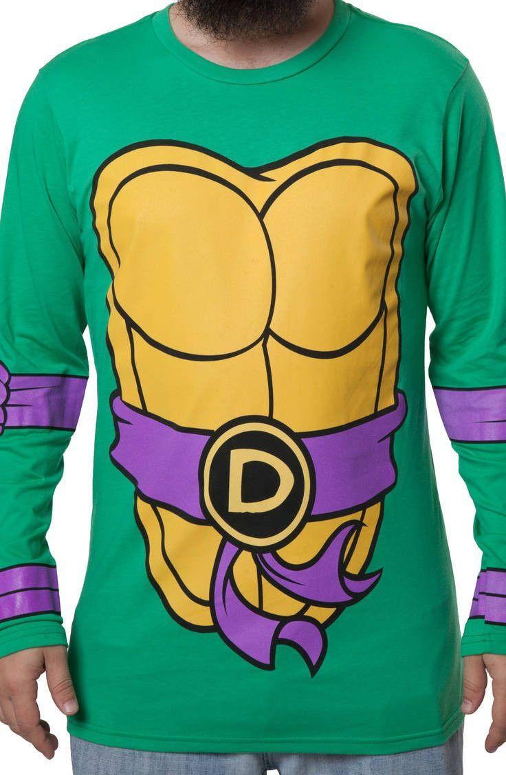 55049393e80 Teenage Mutant Ninja Turtles Mens Donatello Long Sleeve T-Shirt ...