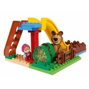 Klocki Masza I Niedźwiedź Plac Zabaw Z Figurkami Big Figurki