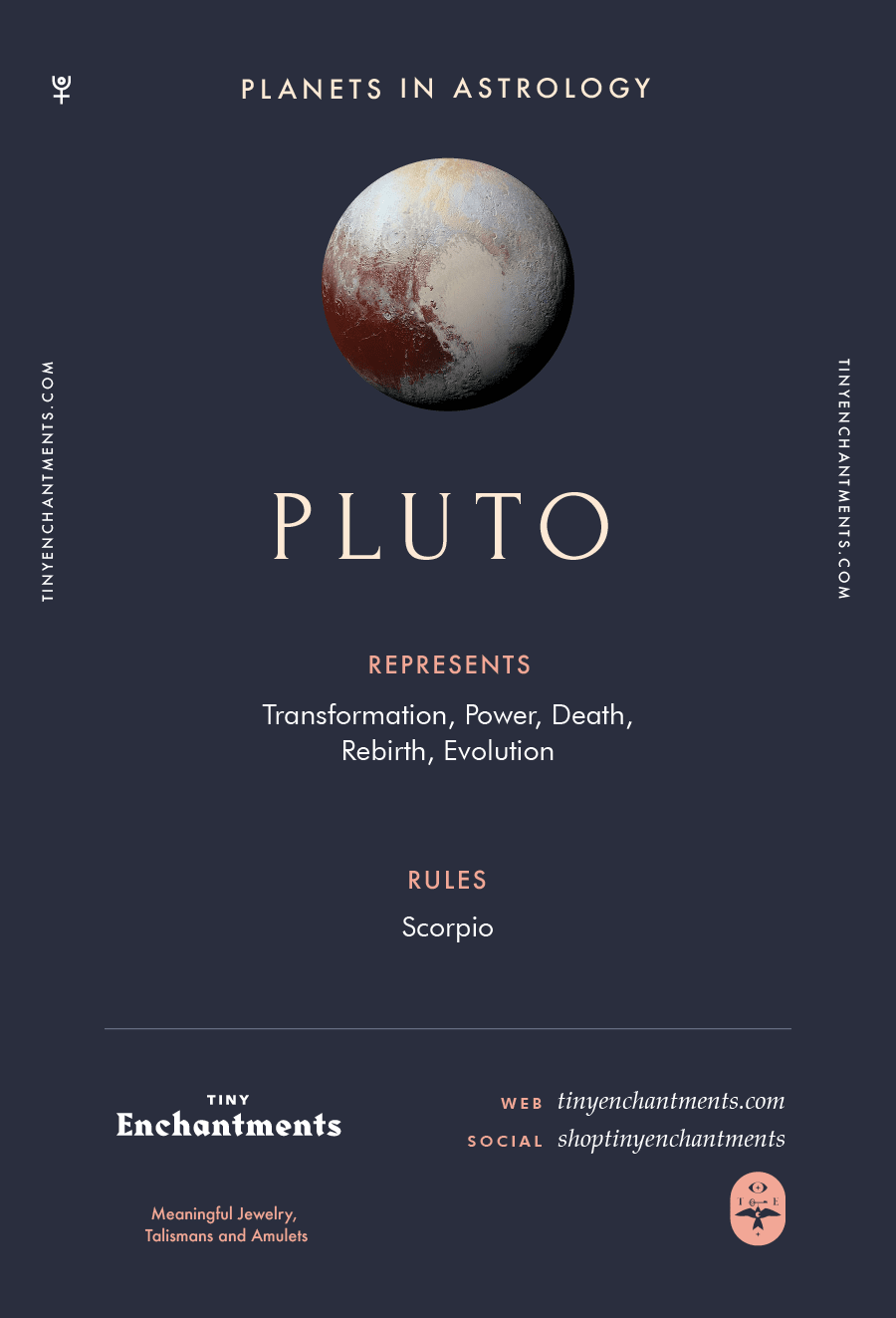 30a7e3ac1 Pluto Sign in Astrology - Planet Meaning, Zodiac, Symbolism,  Characteristics Infographic - zodiac, astrology, horoscopes, magic, wicca,  occult, witchy, ...