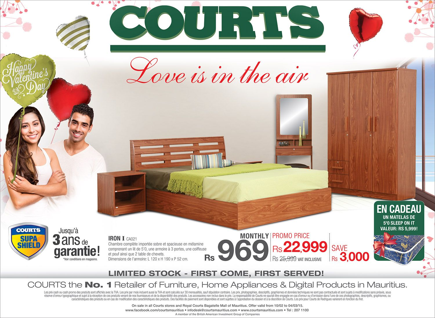 now with courts mauritius you receive a upon purchase of this super set