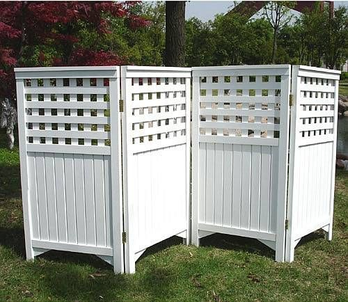 Garden trellis privacy screen ds 7410 back yard land for Outdoor lattice privacy screen