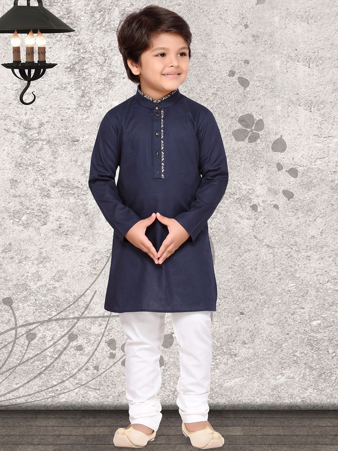 cdc63857e9 Plain Navy Cotton Silk Kurta Suit | Boys Indian Fashion Wear in 2019 ...