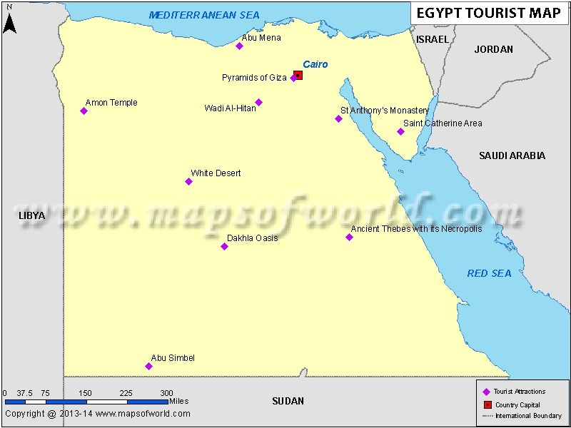 Egypt Tourist Map Egypt Travel Tourist Map Egypt