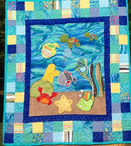Under the Sea Baby Quilt - My Quilt Place   Baby quilts I've made ... : under the sea quilt - Adamdwight.com