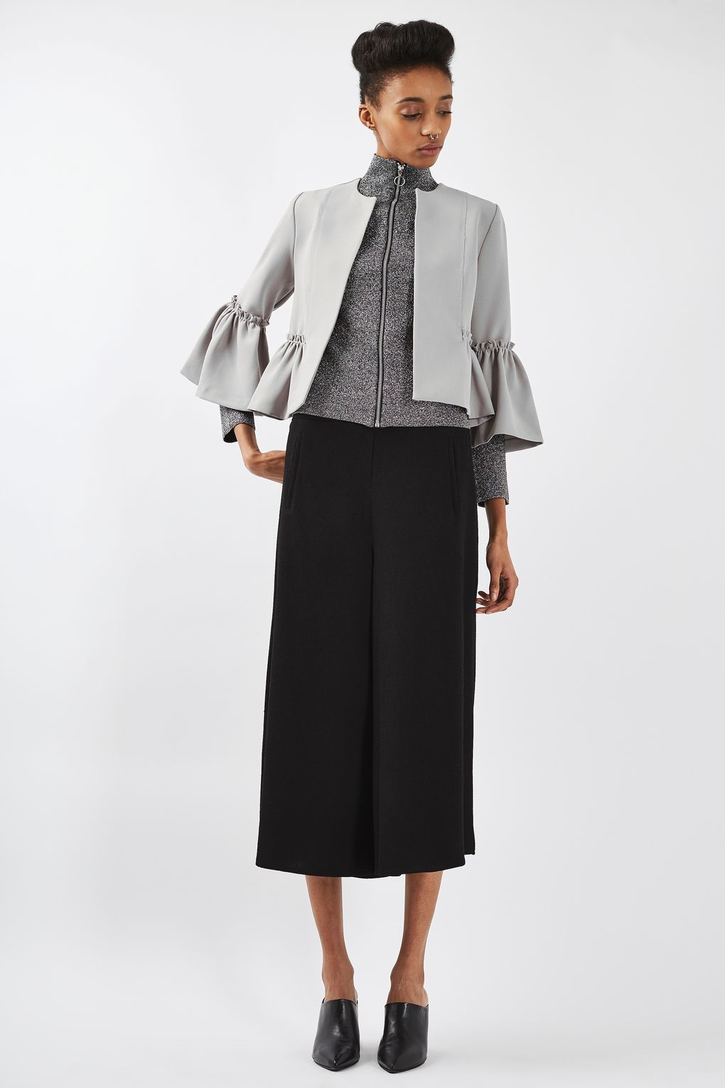 Crop Frill Jacket - Chic work look