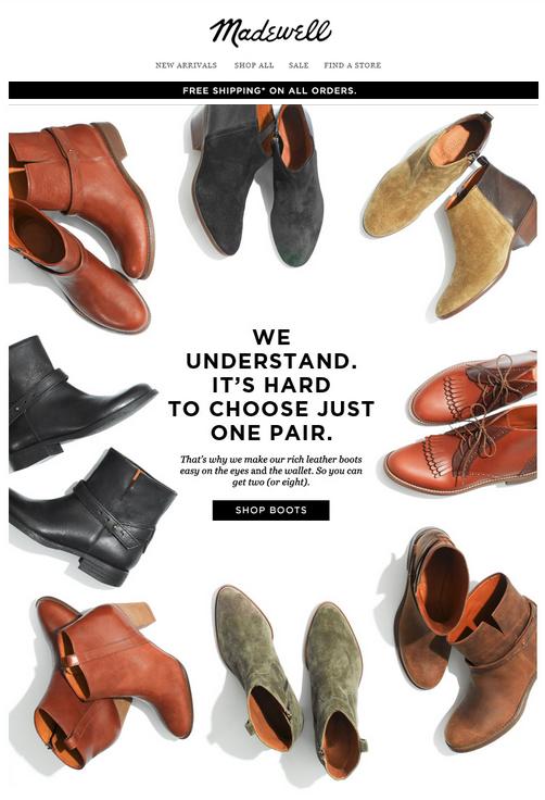 BOGO sale. | Email marketing design