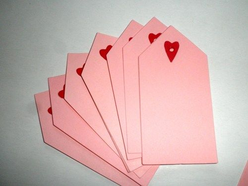 Valentine's Day Heart Gift Tags 1 dozen pack | ClaireMDesigns - Paper/Books on ArtFire
