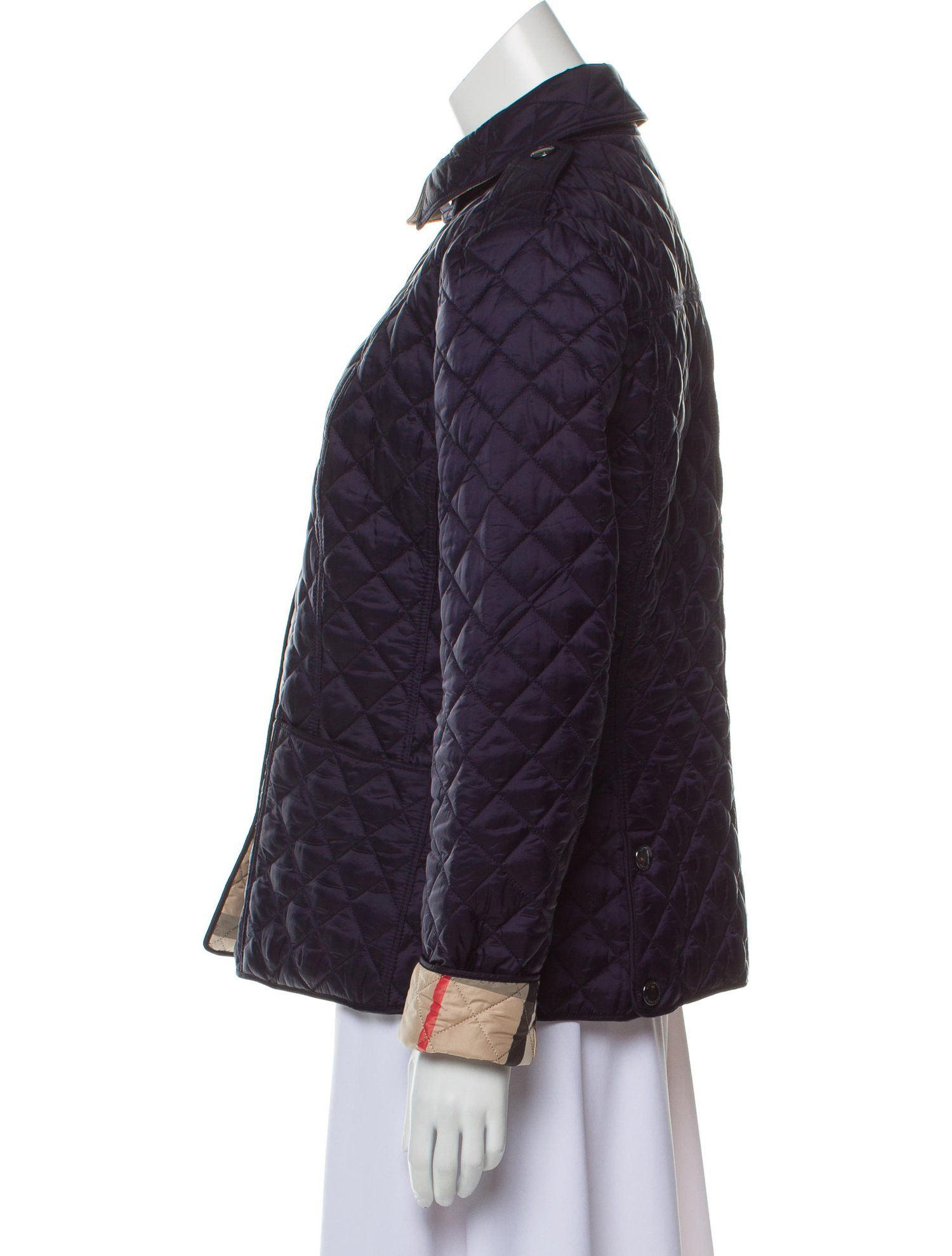 Burberry Quilted Snap Up Jacket Quilted Burberry Jacket Jackets Clothes Burberry Quilted Jacket