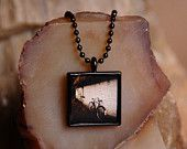 Bicycle Necklace, Ireland Jewelry, Original Nature Photography Necklace