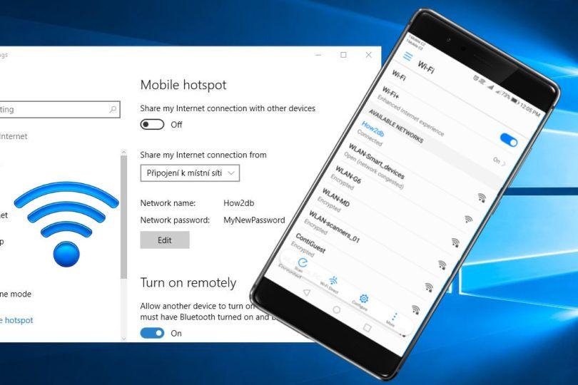 How to create wifi hotspot in windows 10