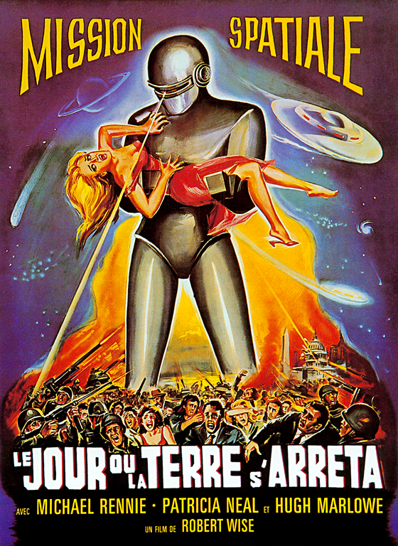"""""""The Day The Earth Stood Still"""" movie poster Retro film"""