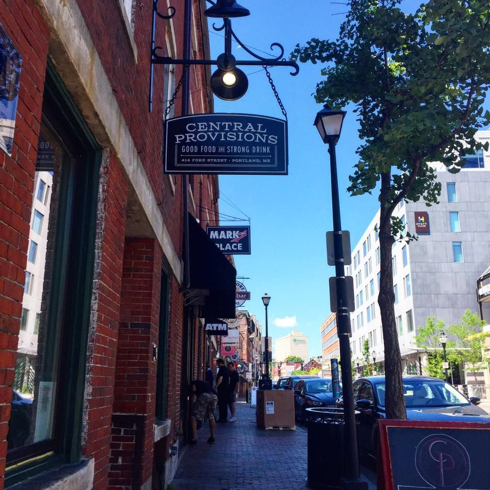 """Fore Street, Old Port district, Portland, Maine.  (Facebook share from """"Old Port"""" magazine.)"""