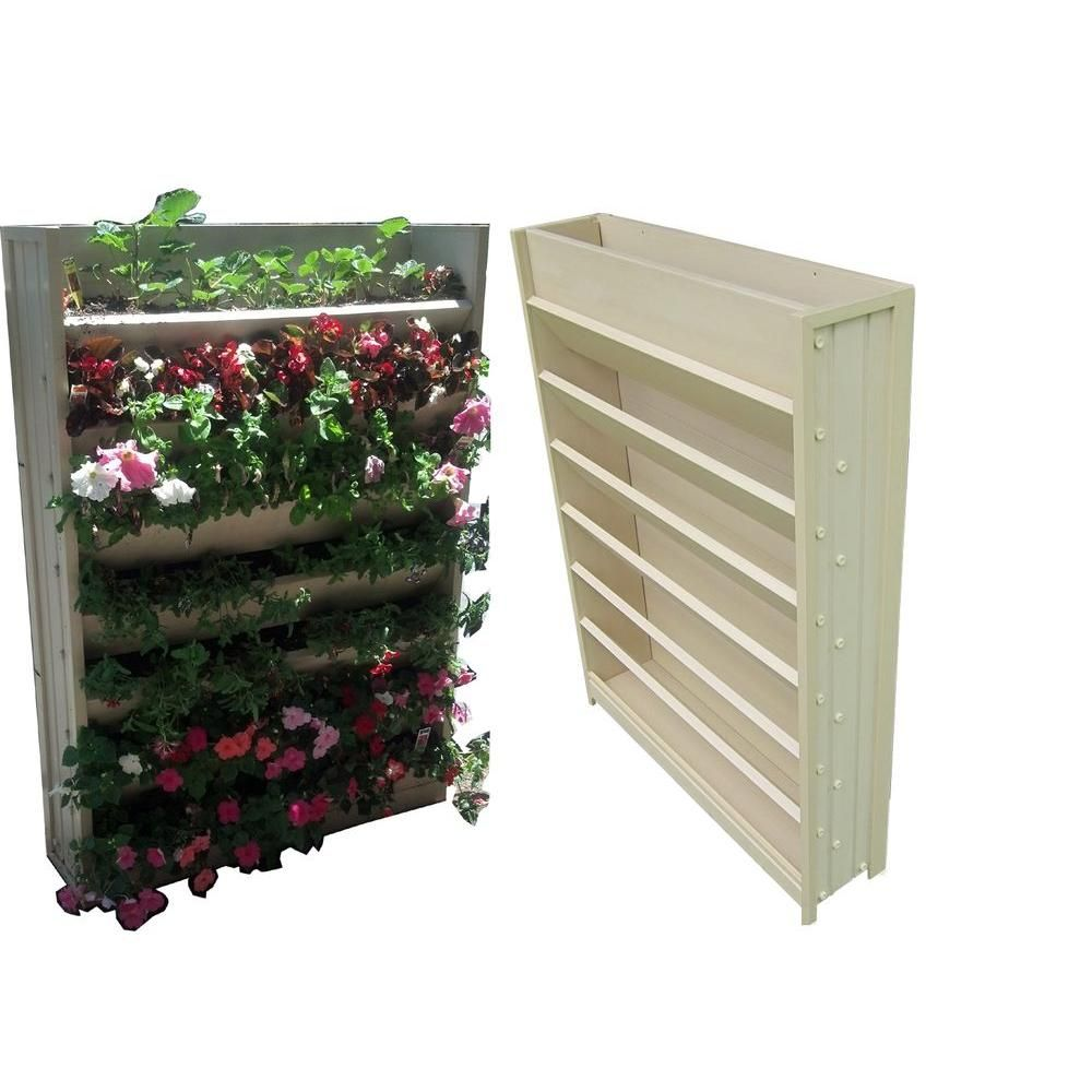33.1 in. W x 8.3 in. D x 45.3 in. H Resin Living Wall Vertical ...