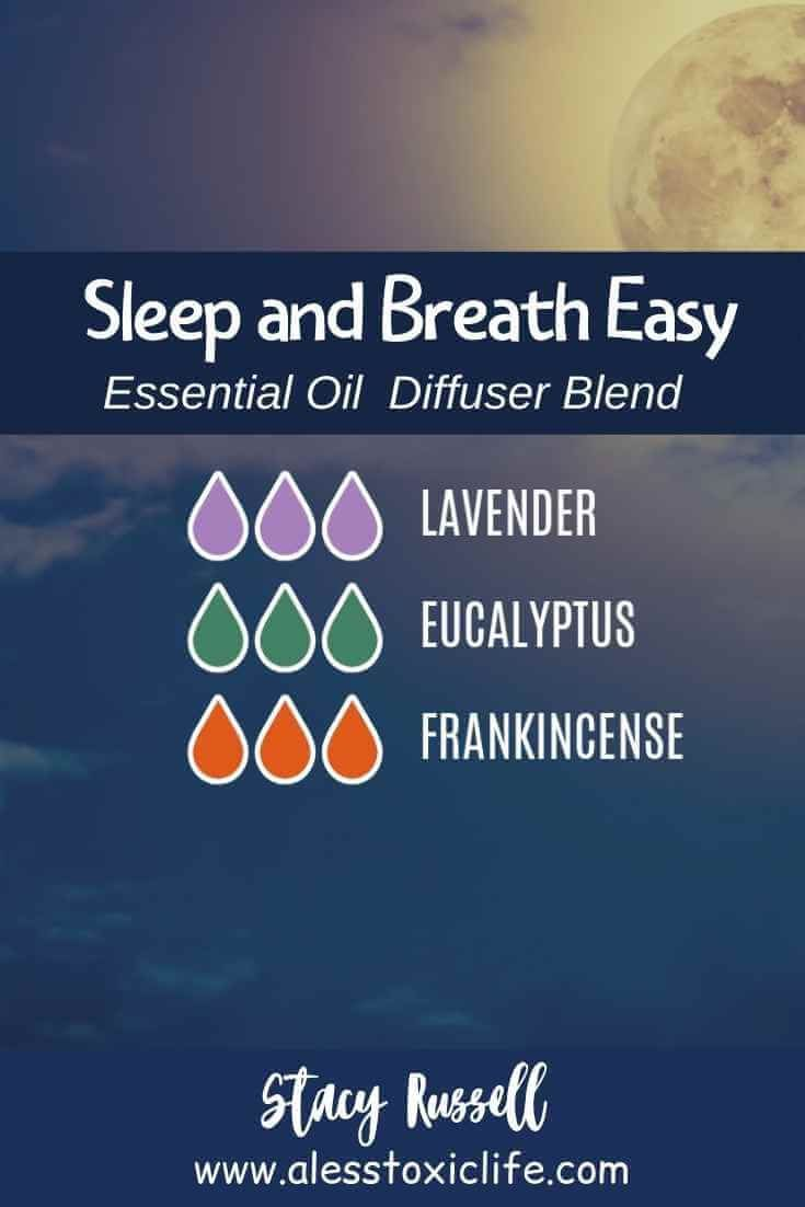 Try this blend of essential oils if you are congested with a stuffy nose before you go to bed Diffuse it by your bed Lavender eucalyptus and frankincense are 3 of the top...