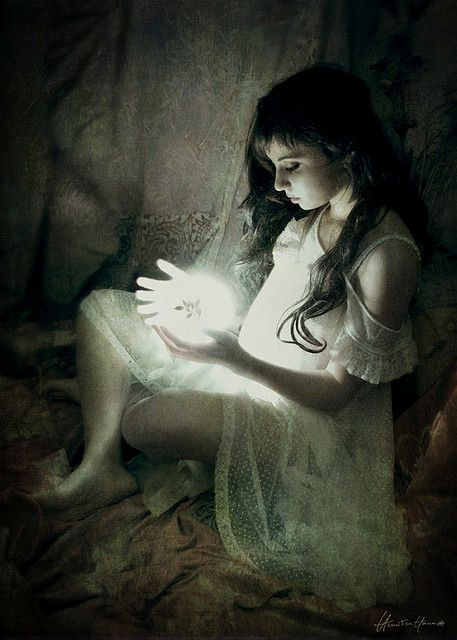 The body of child, velvety with its wisdom, remembering the language of light and moth and stream  by:  Brooke Shaden