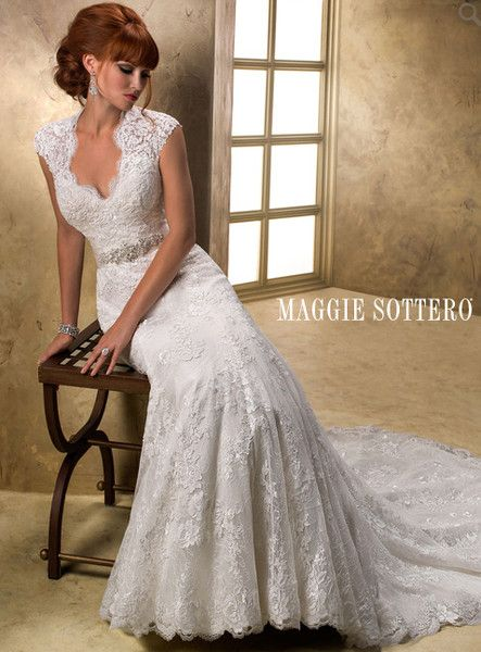 See Brides N Maids On Weddingwire Maggie Sottero Wedding Dresses Wedding Dresses Fit Flare Wedding Dress