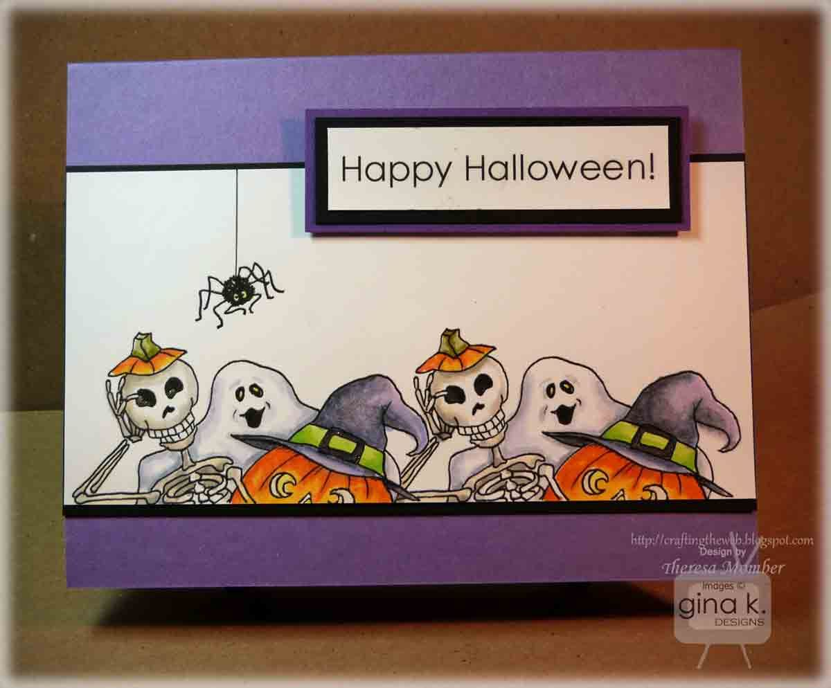 Crafting The Web: Gina K New Release Blog Hop - Day 1 #spookybasketideas