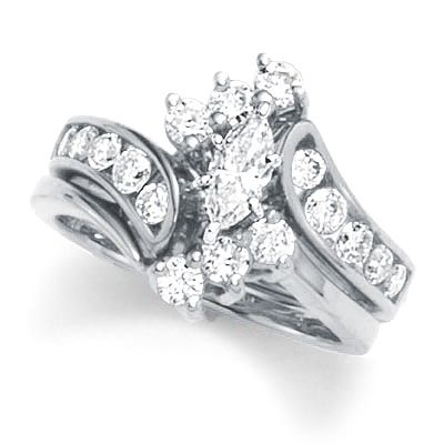 Zales 1 1 2 Ct Marquise Wedding Set Diamond Bridal Sets Wedding Ring Sets Diamond Wedding Rings Sets