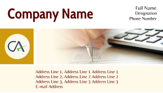 Online Visiting Card For Chartered Accountant