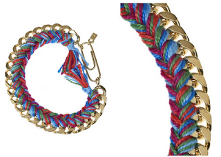 Braided Chain Bracelet w/ embroidery floss