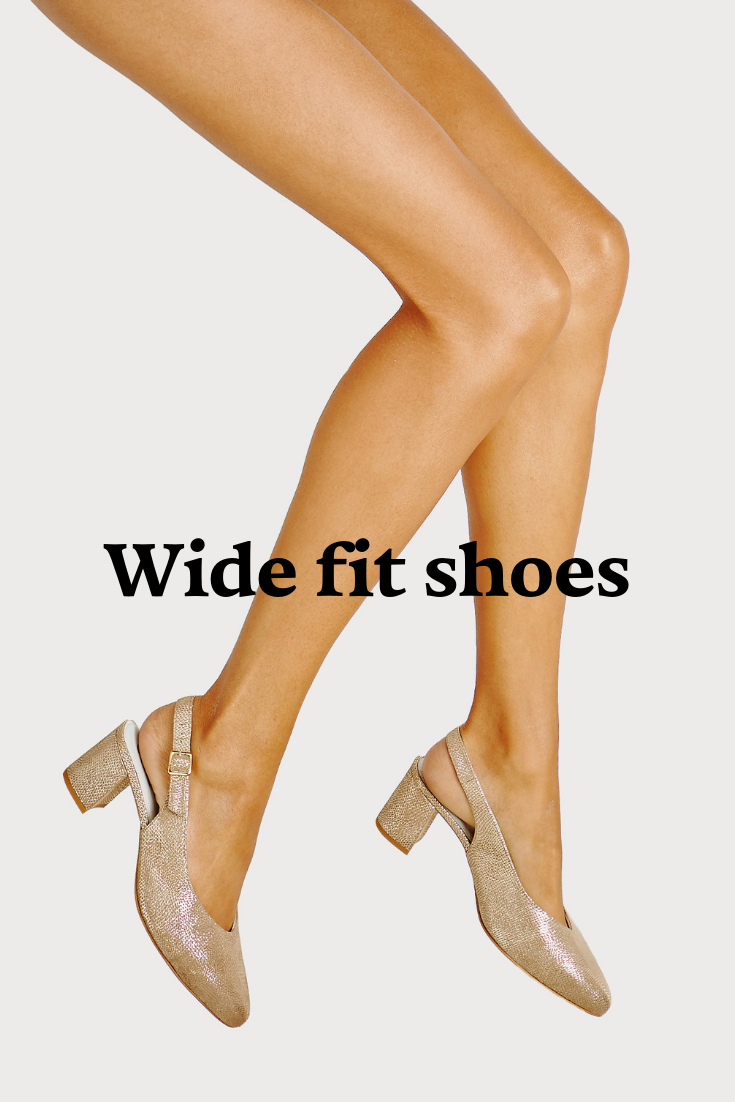 Wide fit shoes for wide feet and
