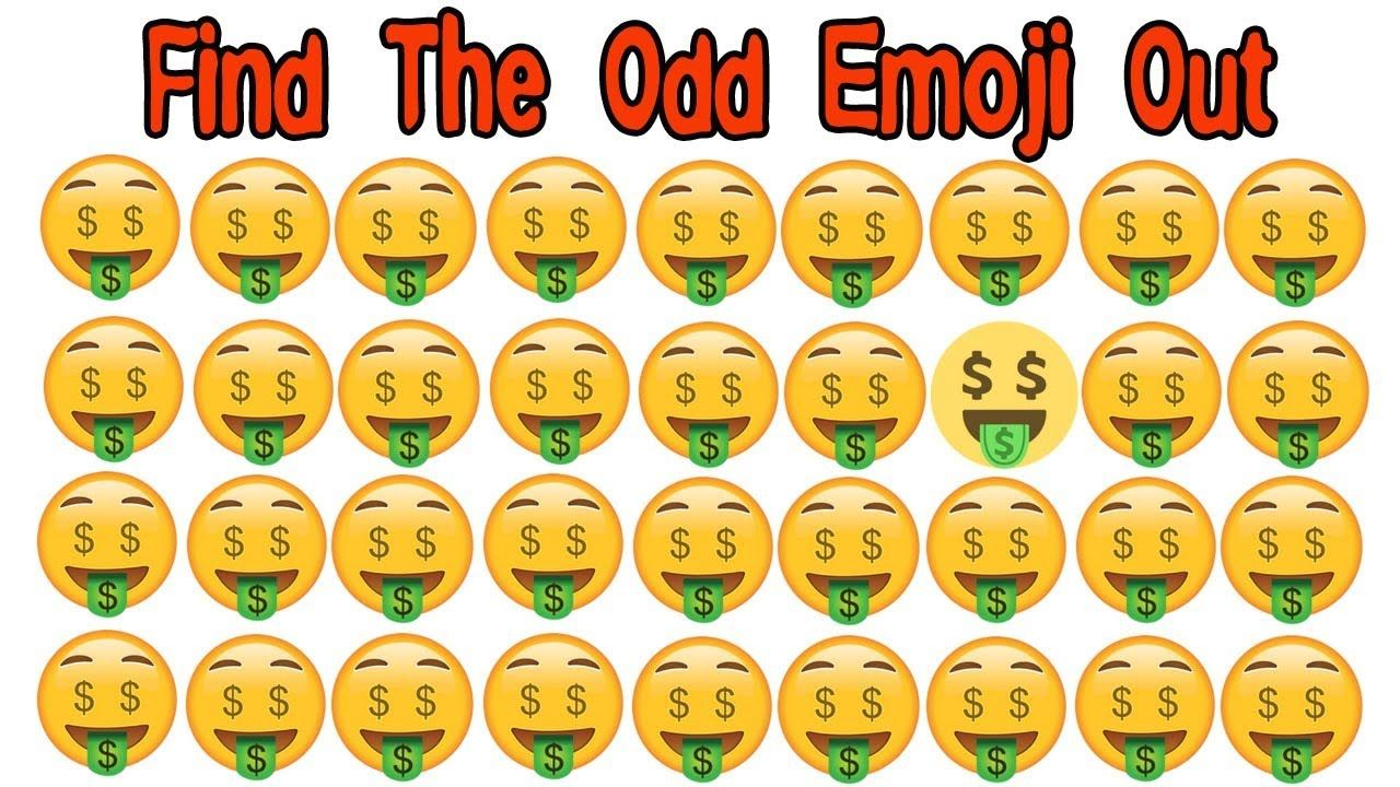 Find The Odd Emoji Out Spot The Difference Emoji Emoji Puzzle Quiz Emoji Puzzle Emoji Emoji Quiz