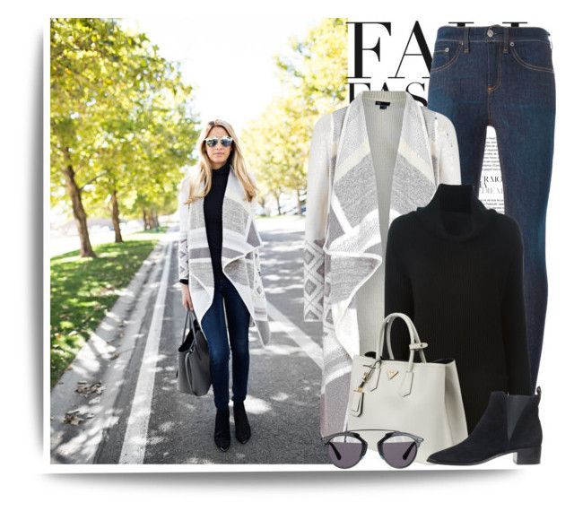 shades of gray by stacy-gustin on Polyvore featuring Vince, rag & bone, Acne Studios, Prada, Christian Dior, MANGO, BloggerStyle and ivorylane