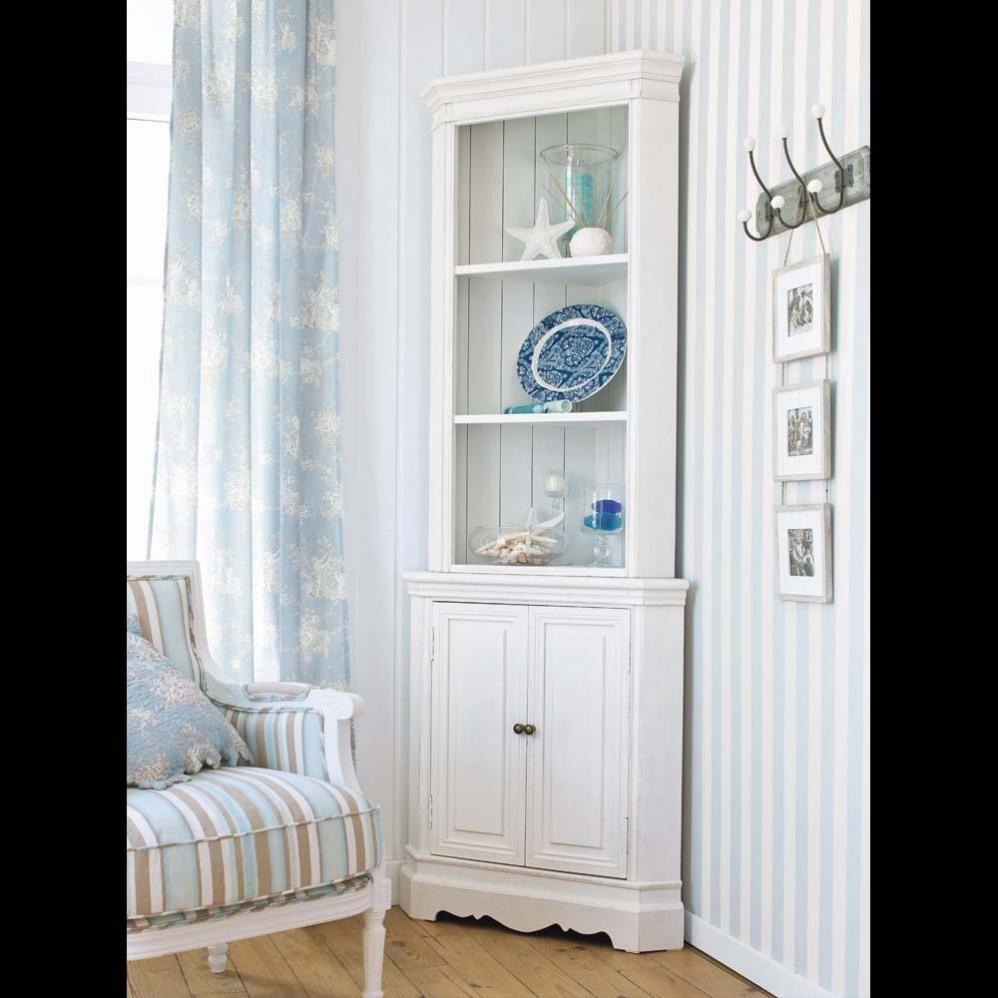 Mueble esquinero de madera de paulonia blanca An. 73 cm ...