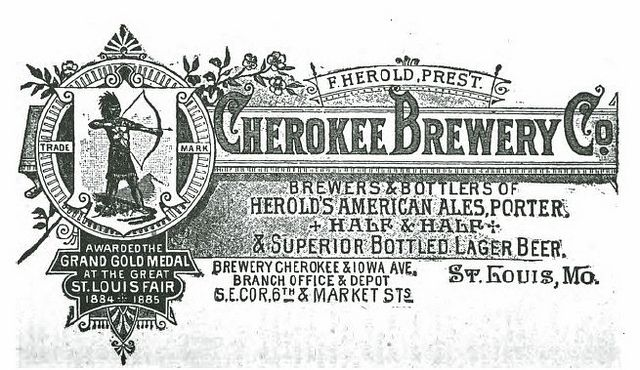 1888 Cherokee Brewery Co   St. Louis by carlylehold, via Flickr