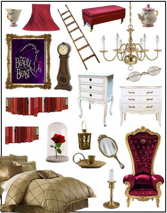 beauty and the beast room i want this so bad