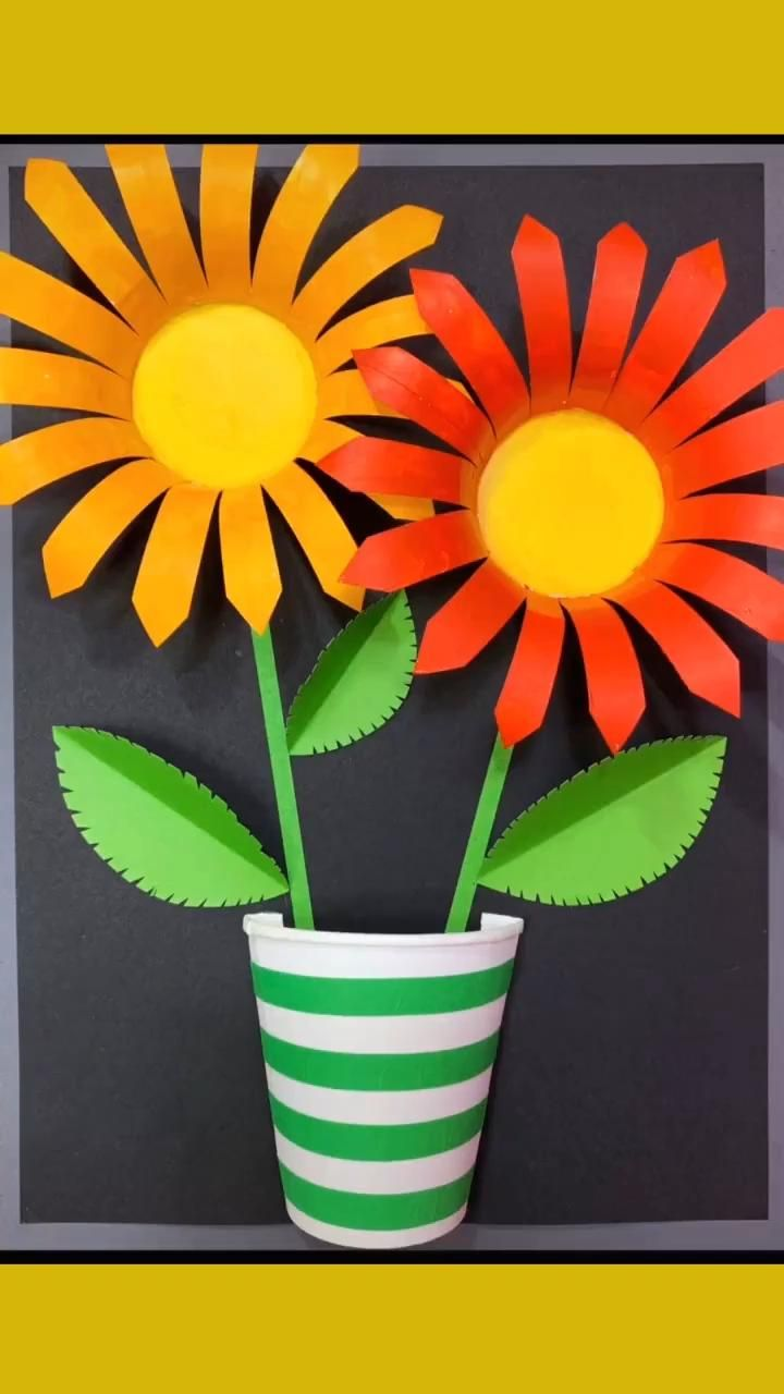 Photo of Lovely flowers made of paper cups
