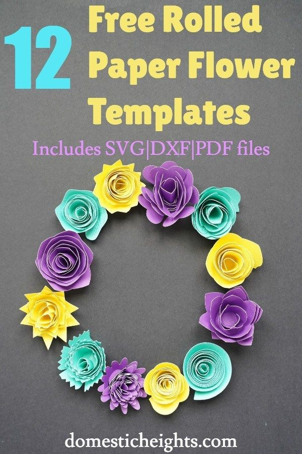 Download 12 Free Rolled Flower SVG Templates | Paper flower ...